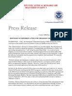 DACA press release