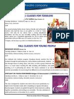 Arts Institute Brochure Fall 2017