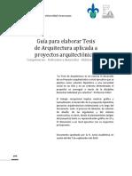Guía Para Elaborar Tesis de Arquitectura