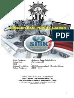 Administrasi Pembelajaran Pdtm 2017-2018