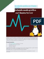 Como Instalar Interfaz Grafica en Ubuntu Server Paso a Paso