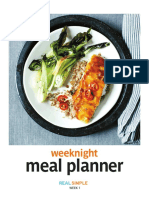 Week Night Meal Planner