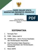 Peran IAKMI Dalam Upaya Kesehatan Prev-Promotif 2010-2014 _Arum K_ Bappenas_3 Agustus 2010