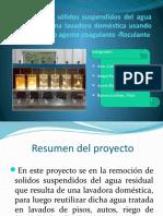 Remoción de Sólidos Suspendidos Del Agua Residual