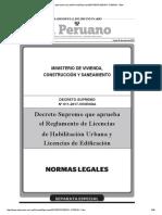 Reglamento Ley 29090 Ds 011 2017 Vivienda