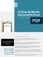 TheUnlearn Things We Wish We Had Learned at School