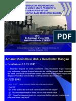Potensi Penguatan Program Dan Anggaran Utk Preventif & Promotif Utk Penguatan Investasi Berkelanjutan Bidang Kesehatan - Bu Sumarjati-wkl Ket. Komisi Ix Dpr