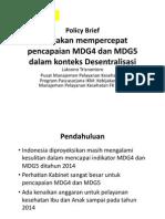 Kebijakan Mempercepat ian MDG 4 Dan MDG 5 Dalam Konteks Desentralisasi_Laksono