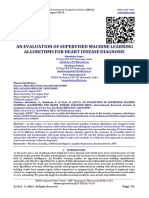 AN EVALUATION OF SUPERVISED MACHINE LEARNING ALGORITHMS FOR HEART DISEASE DIAGNOSIS