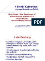 Praktek Efektif Komunitas Menuju Atma Jaya Bebas Asap Rokok_Prof Yohannes