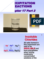Precipitation Reactions Chapter 14