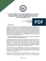 Opinión técnica DL 1323 OSIG en Código Penal