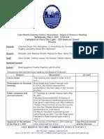 LMU Board Minutes May 3, 2017