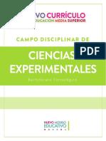 Plan de estudios de Ciencias Experimentales Bach Tec