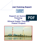 Report on Rihand Super Thermal Power Project