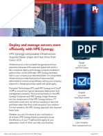 Deploy and manage servers more efficiently with HPE Synergy