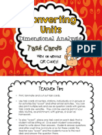 dimensional analysis task cards