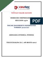 OscarRodriguez 31121727 Tarea-03 Titulo Valor Accion