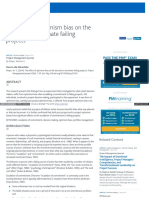 Www Pmi Org Learning Library Optimism Bias Terminate Failing