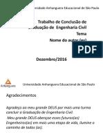 Modelo Slide Tcc Engenharia Civil 2016