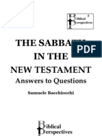 The Sabbath in the NT, by Samuele Bacchiocchi. Questions and Answers