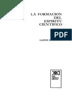 Formacion del espiritu cientifico - G. Bachelard (Cap. 1).pdf