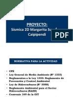 Ministerio Sismica 2D Margarita, Area Caipipendi