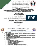 estudio de la cooperativa agraria quechuas y aymaras puno