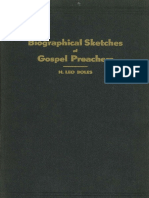 Biographical Sketches of Gospel Preachers by H. Leo Boles