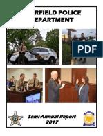 Deerfield Police Department Semi-Annual Report