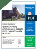 MEZCLA PROMOCIONAL DE GOOGLE A NIVEL INTERNACIONAL
