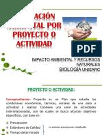 3. Evaluación Ambiental Por Proyecto o Actividad