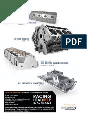 RHS Catalogo de Culata Para Tu Motor   Throttle   Cylinder