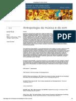 Antropologia da música e do som