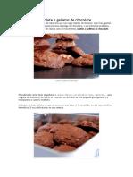 Cookies de Chocolate o Galletas de Chocolate