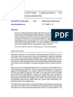 Using Scripting Languages to Teach Programming