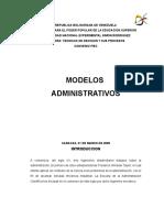 Primer Trabajo de Modelos Administrativos