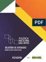 Relatório de Atividades Da Política Nacional Das Artes 4