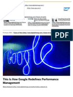 How Google Redefines Performance Management