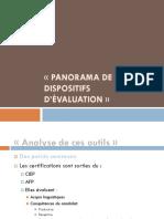 Panorama de Dispositifs d'Evaluation[1]