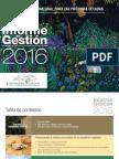 Informe de gestión 2016