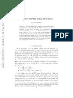 Disjoint Infinity-Borel Functions