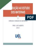 Capítulo 01 - Introdução Ao Estudo Dos Materiais PDF