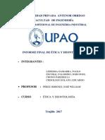 Informe Final de Ética y Deontología