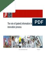 Information in the Innovation Process Survey Results En
