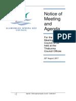 Glamorgan Spring Bay August council meeting agenda