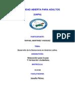 Tarea 4 Educacion Para La Paz y Formacion Ciudadana