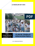 Ejemplo Plan de Trabajo Educación Física