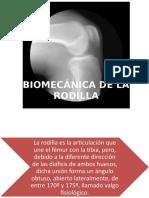 Biomecánica de La Rodilla