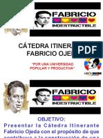 Presentación de La Cátedra Fabricio Ojeda 1